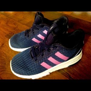 Adidas girls size 10 shoes sneakers navy